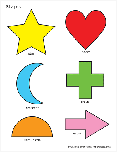 image relating to Printable Shapes for Preschoolers known as Easy Styles Absolutely free Printable Templates Coloring Web pages