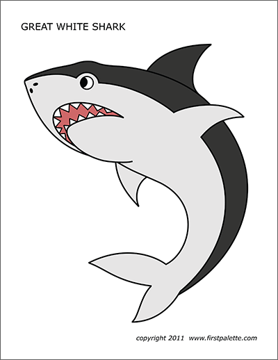 picture about Shark Stencil Printable identified as Shark Totally free Printable Templates Coloring Webpages