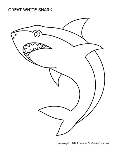 photograph regarding Shark Stencil Printable named Shark Absolutely free Printable Templates Coloring Web pages