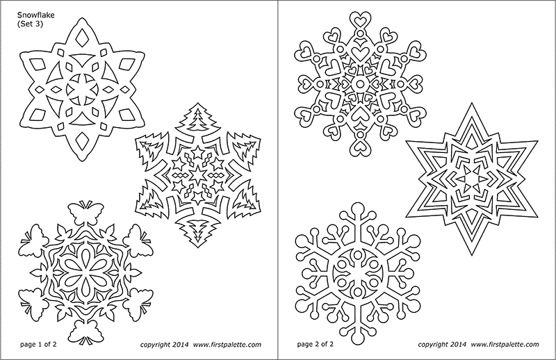 graphic relating to Snowflakes Coloring Pages Printable titled Snowflake Coloring Web pages Cost-free Printable Templates