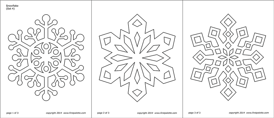 photograph about Snowflake Printable titled Snowflake Coloring Web pages Absolutely free Printable Templates