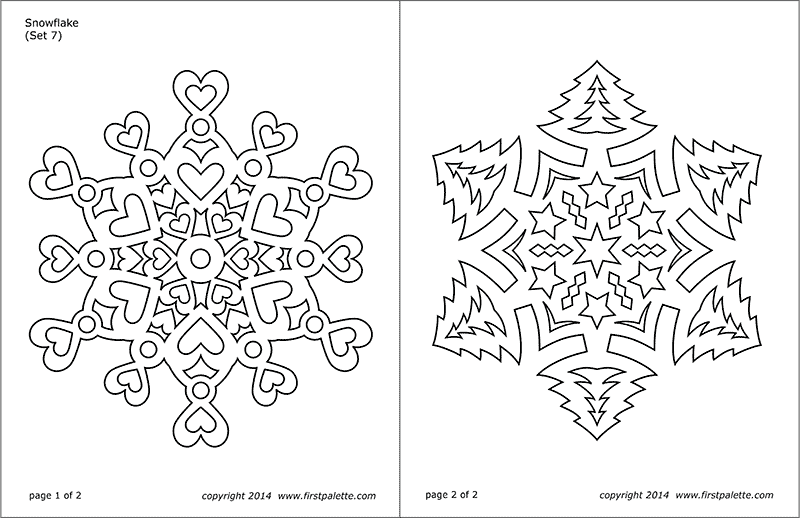 Snowflake Coloring Pages | Free Printable Templates & Coloring Pages ...