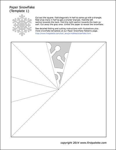 3d snowflake templates