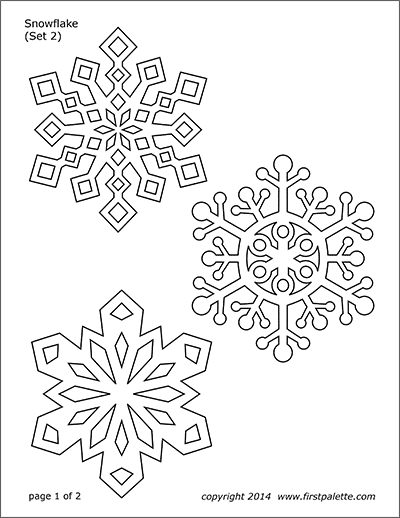 Printable Snowflake Coloring Pages