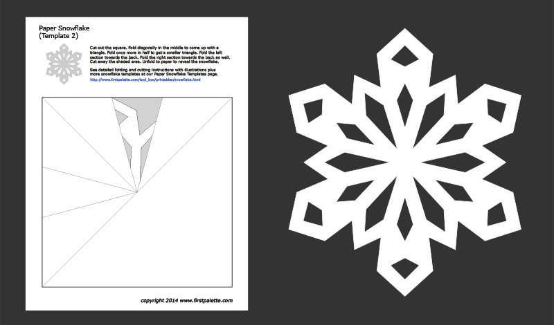 graphic about Snowflake Cutouts Printable called Paper Snowflake Templates Cost-free Printable Templates
