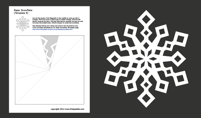 6 sided snowflake pattern templates  Paper Snowflake Templates | Free Printable Templates ...