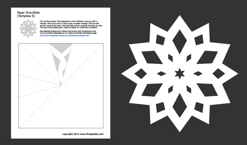 xmas snowflake template  Paper Snowflake Templates | Free Printable Templates ...