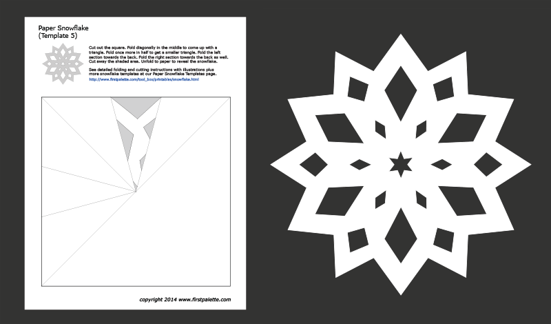 cool paper snowflake template  Paper Snowflake Templates | Free Printable Templates ...