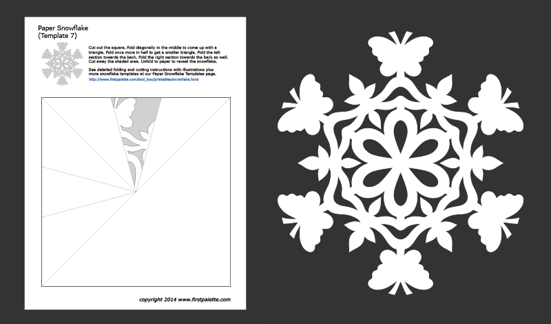 photograph regarding Printable Snowflake Stencils titled Paper Snowflake Templates Cost-free Printable Templates