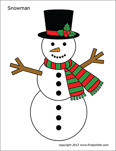 picture about Free Printable Snowman named Snowman Free of charge Printable Templates Coloring Internet pages
