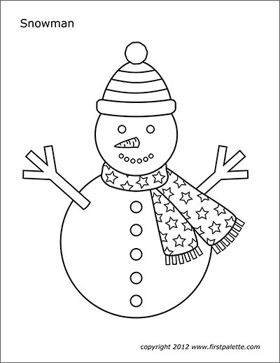 photograph relating to Printable Snowman Picture named Snowman Free of charge Printable Templates Coloring Internet pages