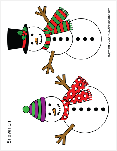 photograph relating to Free Printable Snowman named Snowman Totally free Printable Templates Coloring Webpages
