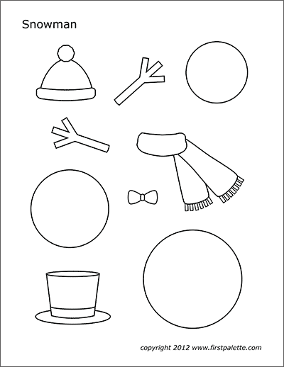 image about Printable Snowman Picture named Snowman Absolutely free Printable Templates Coloring Webpages