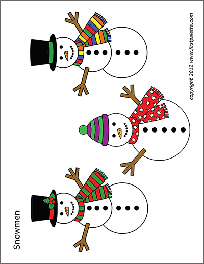 image about Printable Snowman Picture known as Snowman No cost Printable Templates Coloring Web pages