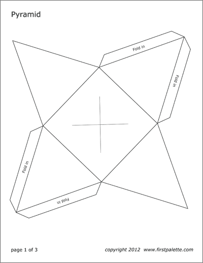 Printable Square Pyramid template