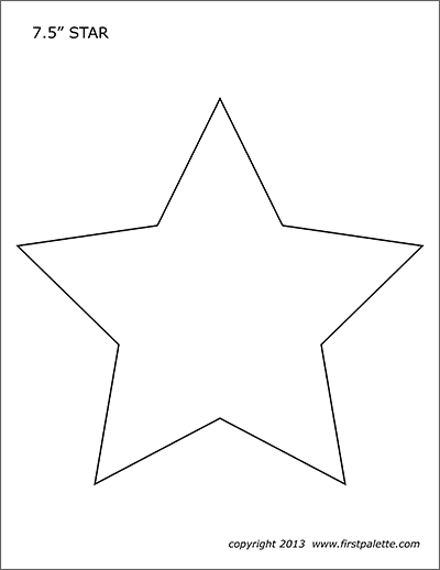photograph relating to Stars Printable Template called Famous people Absolutely free Printable Templates Coloring Webpages