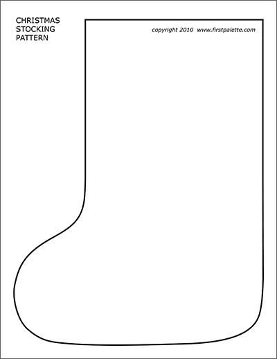 christmas stocking template cut out  Christmas Stocking Pattern | Free Printable Templates ...