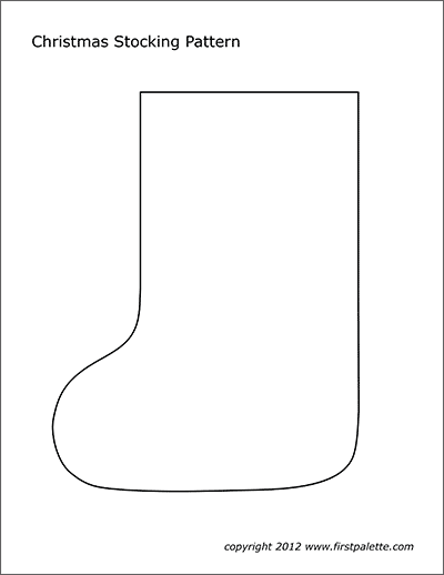 picture relating to Printable Stocking Patterns referred to as Xmas Stocking Practice Free of charge Printable Templates