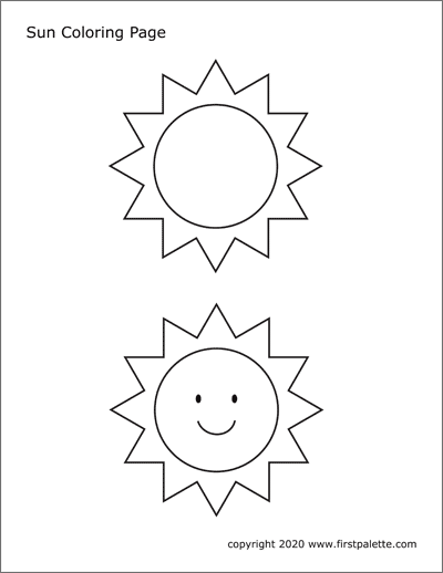 Sun Free Printable Templates Coloring Pages Firstpalette Com