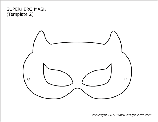 Superhero Mask Templates Free Printable Templates Coloring Pages Firstpalette Com