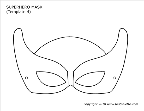 image about Printable Mask Templates referred to as Superhero Mask Templates Free of charge Printable Templates
