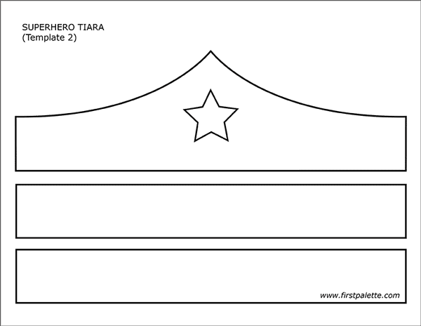 Step 1 Paper Superhero Tiara