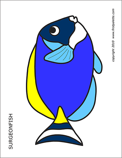 image relating to Printable Fish Pictures referred to as Coral Reef Fishes Cost-free Printable Templates Coloring