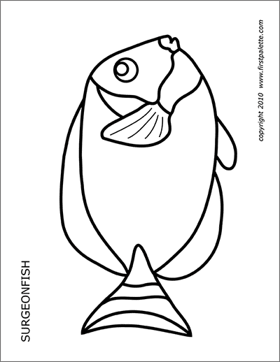 Coral Reef Fishes   Free Printable Templates & Coloring ...