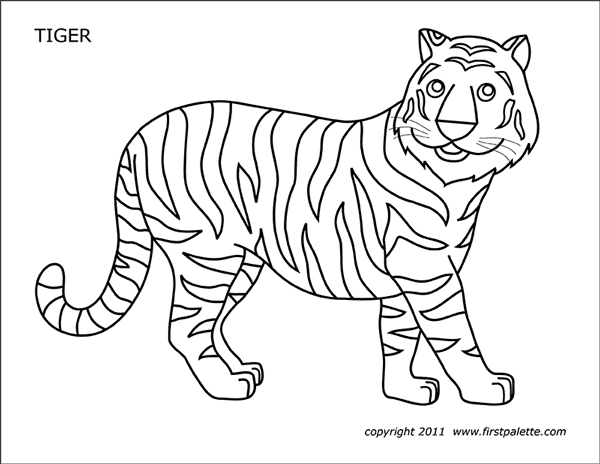 graphic about Printable Tiger Pictures called Tiger Free of charge Printable Templates Coloring Web pages