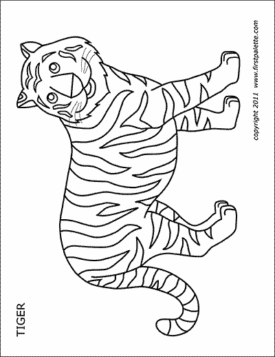 Printable Tiger Coloring Page