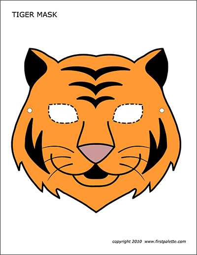 Printable Colored Tiger Mask