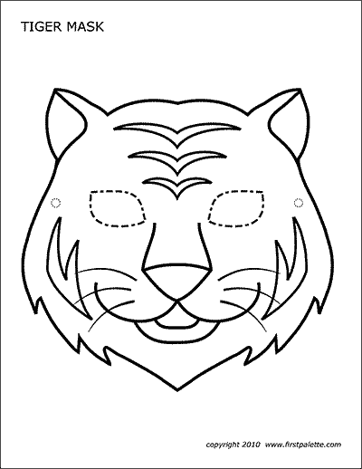 Printable Tiger Mask Coloring Page