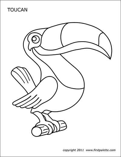 toucan coloring pages to print | Toucan | Free Printable Templates & Coloring Pages ...