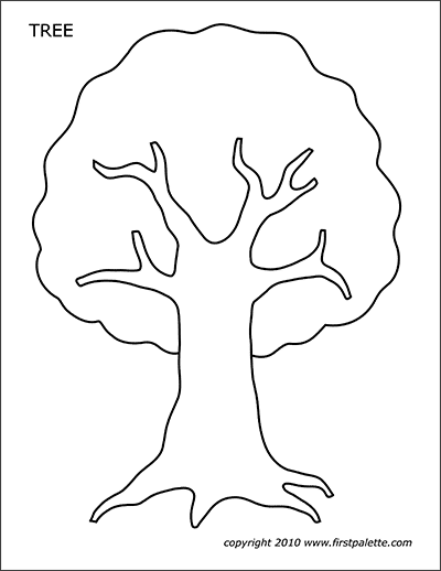 Printable Tree Template 1