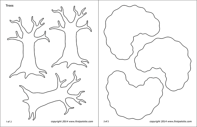 Printable Tree Template 4