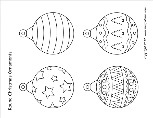 STEP 1 Printable Christmas Tree Ornaments