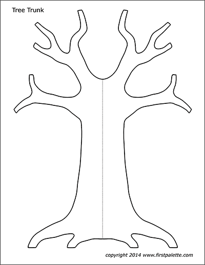 Printable Tree Trunk