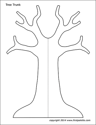 This is a graphic of Dramatic Printable Tree Trunk Template