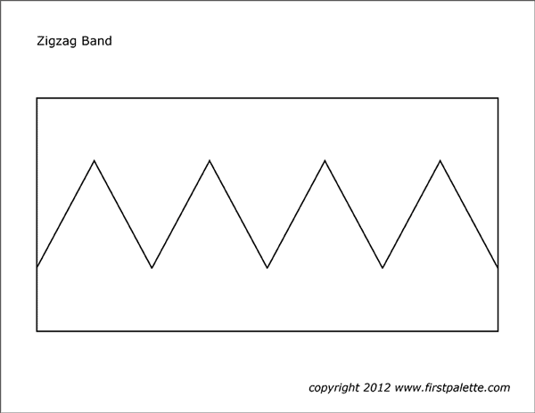 Printable zigzag band template